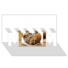 Border Terrier Sleeping MOM 3D Greeting Card (8x4)