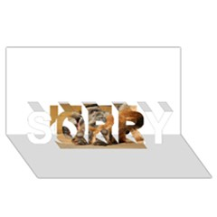Border Terrier Sleeping SORRY 3D Greeting Card (8x4)