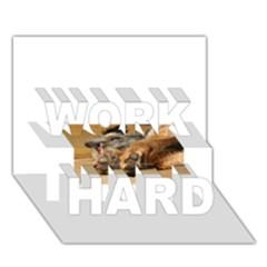 Border Terrier Sleeping WORK HARD 3D Greeting Card (7x5)