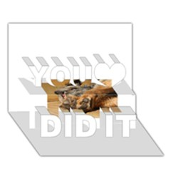 Border Terrier Sleeping You Did It 3D Greeting Card (7x5)