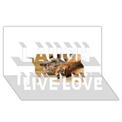 Border Terrier Sleeping Laugh Live Love 3D Greeting Card (8x4)