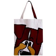 Red Tri Peeping  Aussie Dog Zipper Classic Tote Bags