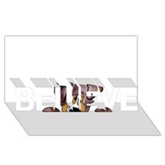 Red Merle Peeking  Aussie BELIEVE 3D Greeting Card (8x4)