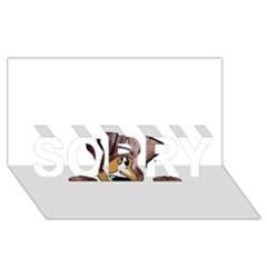 Red Merle Peeking  Aussie SORRY 3D Greeting Card (8x4)