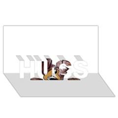 Red Merle Peeking  Aussie HUGS 3D Greeting Card (8x4)