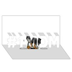 Blue Merle Peeking Aussie #1 MOM 3D Greeting Cards (8x4)