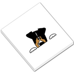 Black Tri Peeping Aussie Dog Small Memo Pads