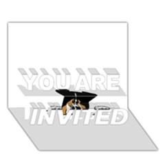 Black Tri Peeping Aussie Dog YOU ARE INVITED 3D Greeting Card (7x5)