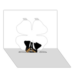 Black Tri Peeping Aussie Dog Clover 3D Greeting Card (7x5)