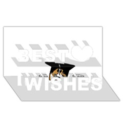 Black Tri Peeping Aussie Dog Best Wish 3D Greeting Card (8x4)