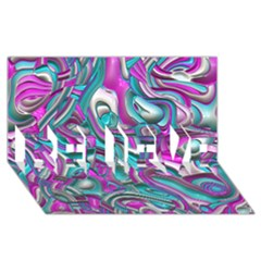 Art Deco Candy BELIEVE 3D Greeting Card (8x4)