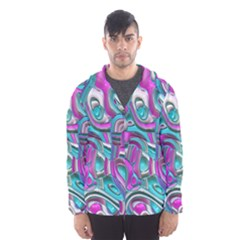 Art Deco Candy Hooded Wind Breaker (Men)