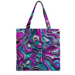 Art Deco Candy Zipper Grocery Tote Bags
