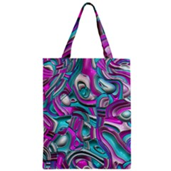 Art Deco Candy Zipper Classic Tote Bags