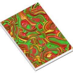 Art Deco Red Green Large Memo Pads