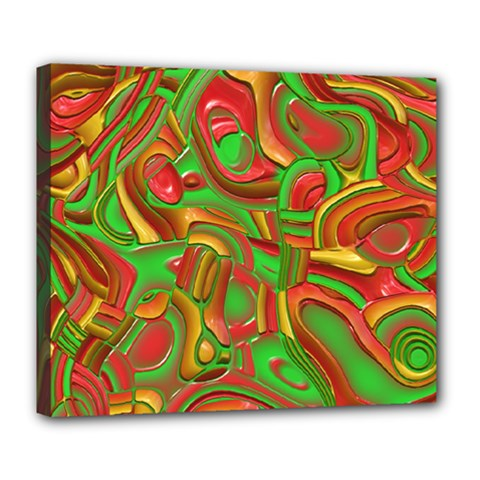 Art Deco Red Green Deluxe Canvas 24  x 20