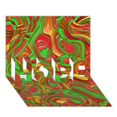 Art Deco Red Green HOPE 3D Greeting Card (7x5)