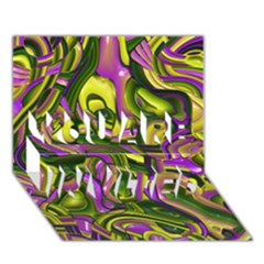 Art Deco Yellow Green YOU ARE INVITED 3D Greeting Card (7x5)
