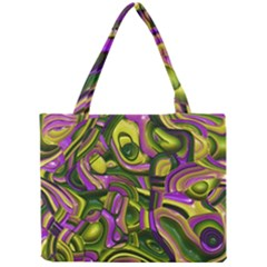 Art Deco Yellow Green Tiny Tote Bags