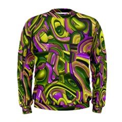 Art Deco Yellow Green Men s Sweatshirts