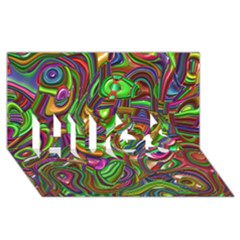 Art Deco Hugs 3d Greeting Card (8x4)