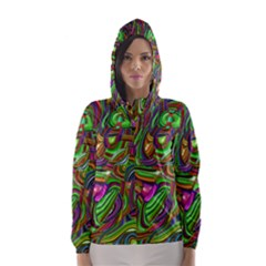 Art Deco Hooded Wind Breaker (Women)