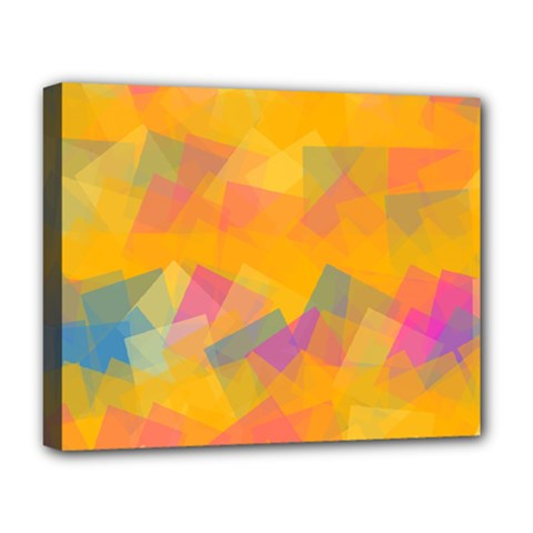 Fading squares Deluxe Canvas 20  x 16  (Stretched)