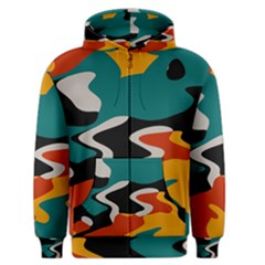 Misc shapes in retro colors Men s Zipper Hoodie