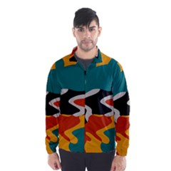 Misc shapes in retro colors Wind Breaker (Men)