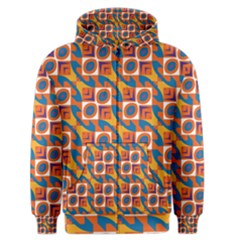 Squares And Other Shapes Pattern Men s Zipper Hoodie