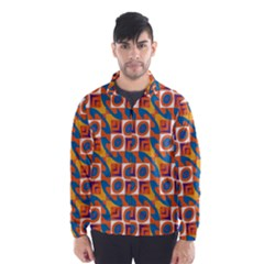 Squares And Other Shapes Pattern Wind Breaker (men)