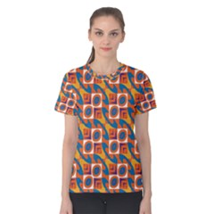 Squares and other shapes pattern Women s Cotton Tee