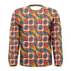 Squares and other shapes pattern Men Long Sleeve T-shirt