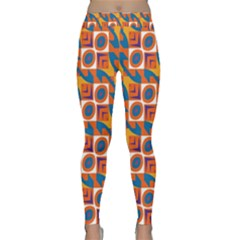 Squares And Other Shapes Pattern Yoga Leggings