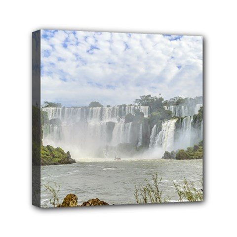 Waterfalls Landscape At Iguazu Park Mini Canvas 6  x 6