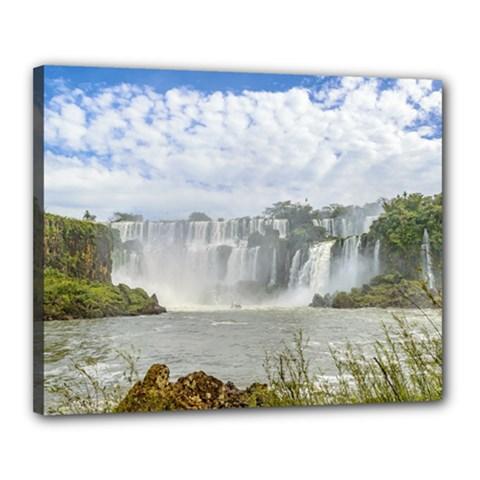 Waterfalls Landscape At Iguazu Park Canvas 20  X 16