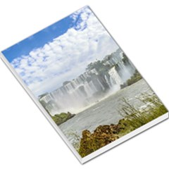 Waterfalls Landscape At Iguazu Park Large Memo Pads