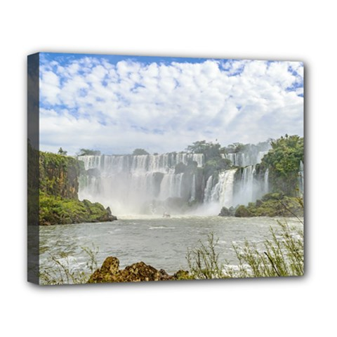 Waterfalls Landscape At Iguazu Park Deluxe Canvas 20  x 16