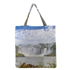 Waterfalls Landscape At Iguazu Park Grocery Tote Bags
