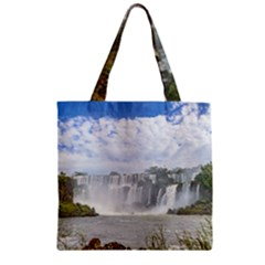 Waterfalls Landscape At Iguazu Park Zipper Grocery Tote Bags