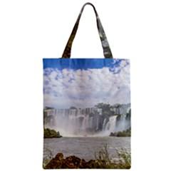 Waterfalls Landscape At Iguazu Park Zipper Classic Tote Bags
