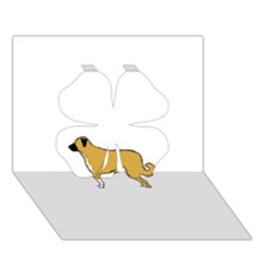 Anatolian Shepherd color silhouette Clover 3D Greeting Card (7x5)
