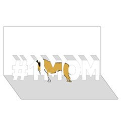 Anatolian Shepherd color silhouette #1 MOM 3D Greeting Cards (8x4)
