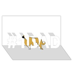 Anatolian Shepherd color silhouette #1 DAD 3D Greeting Card (8x4)