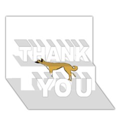 Anatolian Shepherd color silhouette THANK YOU 3D Greeting Card (7x5)