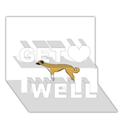 Anatolian Shepherd color silhouette Get Well 3D Greeting Card (7x5)