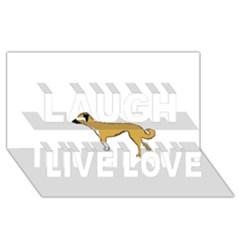 Anatolian Shepherd color silhouette Laugh Live Love 3D Greeting Card (8x4)