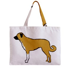 Anatolian Shepherd color silhouette Zipper Tiny Tote Bags