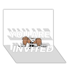 Cavalier King Charles Spaniel Peeping  You Are Invited 3d Greeting Card (7x5)