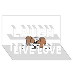 cavalier king charles spaniel Peeping  Laugh Live Love 3D Greeting Card (8x4)